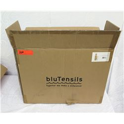 Qty 1/2 Box BluTensils Wooden Utensils - Fork, Knife, Spoon, Napkin Sets