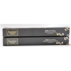 2PK BUTTER LONDON WINK EYE PENCIL; EARL GREY /