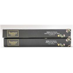 2PK BUTTER LONDON WINK EYE PENCIL; BUSKER /