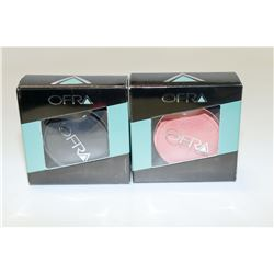 2PK OFRA ASSORTED EYE SHADOWS; CANDY APPLE/ BLACK