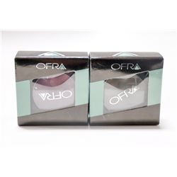 2PK OFRA ASSORTED EYE SHADOWS; SMOKE/ CABERNET