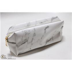 BRAND NEW ZIP UP MAKE UP BAG- WHITE MARBLE DESIGN
