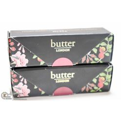 2PK BUTTER LONDON PLUSH RUSH LIPSTICK; DARING &