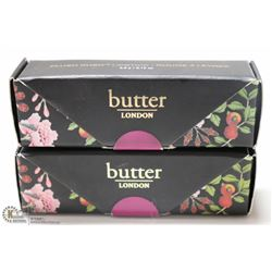 2PK BUTTER LONDON PLUSH RUSH LIPSTICK; !!!