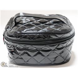 BRAND NEW  ZIP UP MAKE UP BAG; HIGH GLOSS BLACK