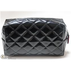 BRAND NEW STAND UP MAKE UP BAG; HIGH GLOSS BLACK