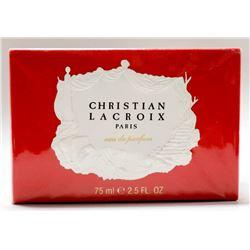 MSRP $39.00- CHRISTIAN LACROIX PARIS 75ML EAU DE