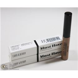 2PK LORD & BERRY MUST HAVE TINTED BROW MASCARA;