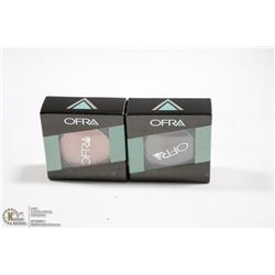 2PK OFRA EYE SHADOW SET; BARK & PEACH