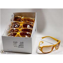 BOX OF YELLOW DIOR REPLICA DESIGNER SUNGLASSES