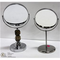 PAIR OF TABLE TOP COSMETICS MIRRORS