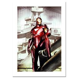"Marvel Comics, ""Iron Man: Director of S.H.I.E.L.D. #32"" Numbered Limited Edition Canvas by Adi Grano"