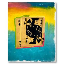 "Steve Kaufman (1960-2010), ""Royal Flush Gold"" Hand Signed and Numbered Limited Edition Hand Pulled s"