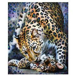 "Vera V. Goncharenko- Original Giclee on Canvas ""Showing His Love"""