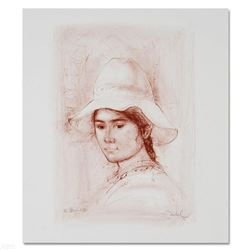 """Magda"" Limited Edition Lithograph by Edna Hibel (1917-2014), Numbered and Hand Signed with Certific"