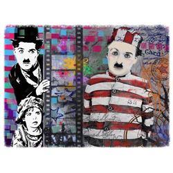 "Mark Braver- Original Mixed Media ""Chaplin"""