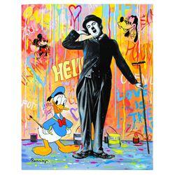 "Nastya Rovenskaya- Original Oil on Canvas ""Chaplin is Tired"""