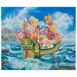 "Eugene Poliarush- Original Oil on Canvas ""Sailing Home"""