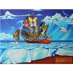 "Anatoliy Keis- Original Giclee on Canvas ""Salvador Dali Street"""