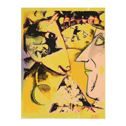 """Ringo Daniel Funes, (Protege of Andy Warhol's Apprentice, Steve Kaufman), """"Farmer and His Cow"""" One-o"""