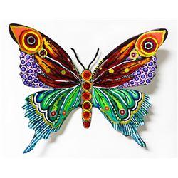 "Patricia Govezensky- Original Painting on Cutout Steel ""Butterfly CCLXXVIII"""