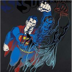 """Andy Warhol- Screenprint in colors with diamond dust """"Superman"""""""