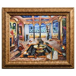 "Alexander Astahov- Original Giclee on Canvas ""Beach House"""
