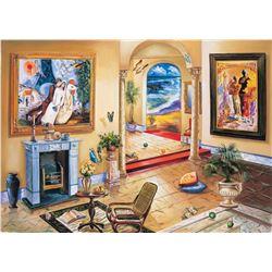 "Alexander Astahov- Original Giclee on Canvas ""Interior with Chagall"""