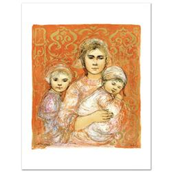 """""""Jenet, Mary and Wee Jenet"""" Limited Edition Lithograph by Edna Hibel (1917-2014), Numbered and Hand"""