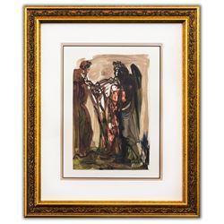 "Salvador Dali- Original Color Woodcut on B.F.K. Rives Paper ""Purgatory 11"""
