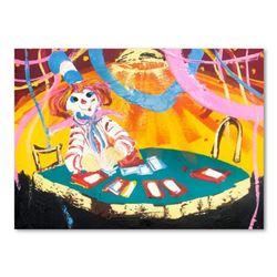 "Paul Blaine Henrie (1932-1999), ""Blackjack Beats 21"" Hand Signed Original Painting on Canvas (30""x40"
