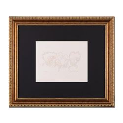 """Guillaume Azoulay, """"Essai AK"""" Framed Original Drawing, Hand Signed with Letter of Authenticity."""