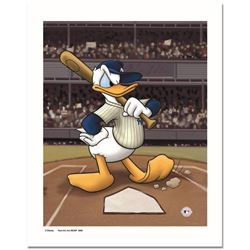 """""""Donald at the Plate (Yankees)"""" Numbered Limited Edition Giclee licensed by Disney with Certificate"""