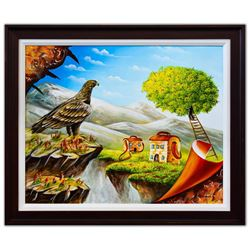 "Eugene Poliarush- Original Oil on Canvas ""Mountains View"""
