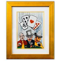 """Alexander Calder- Lithograph """"DLM212 - Joueurs de cartes I"""""""