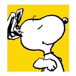 """Peanuts, """"Snoopy: Yellow"""" Hand Numbered Canvas (40""""x44"""") Limited Edition Fine Art Print with Certifi"""