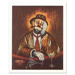 """George Crionas (1925-2004), """"Double Martini"""" Limited Edition Lithograph, Numbered and Hand Hand Sign"""