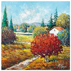 """Mark Braver, """"Hidden Houses"""" Original Oil Painting on Canvas, Hand Signed with Letter of Authenticit"""
