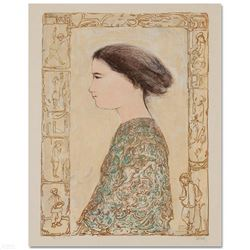 """""""China Profile"""" Limited Edition Lithograph by Edna Hibel (1917-2014), Numbered and Hand Signed with"""