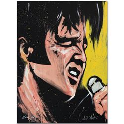 """""""Elvis Presley (68 Special)"""" Limited Edition Giclee on Canvas (30"""" x 40"""") by David Garibaldi, Number"""