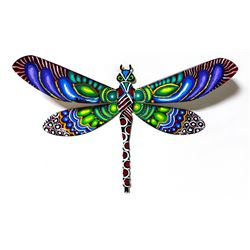 "Patricia Govezensky- Original Painting on Cutout Steel ""Dragonfly LVII"""