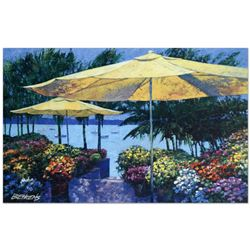 "Howard Behrens (1933-2014), ""Flowers by the Sea"" Limited Edition Hand Embellished Giclee on Canvas w"