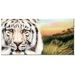 """White Bengal"" Limited Edition Giclee on Canvas by Martin Katon, Numbered and Hand Signed. This piec"
