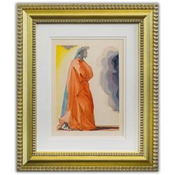 "Salvador Dali- Original Color Woodcut on B.F.K. Rives Paper ""Paradise 1"""