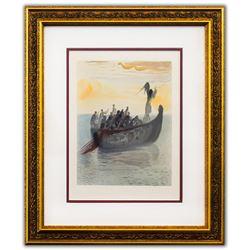 "Salvador Dali- Original Color Woodcut on B.F.K. Rives Paper ""Purgatory 2"""