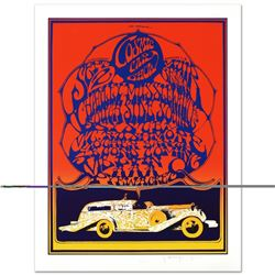 """Stanley Mouse (b. 1940)- Hand Pulled Original Lithograph """"Cosmic Car show"""""""