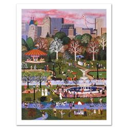 """Jane Wooster Scott, """"Springtime in Central Park"""" Hand Signed Limited Edition Lithograph with Letter"""