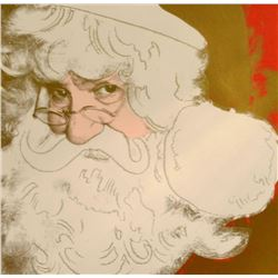 """Andy Warhol- Screenprint in colors with diamond dust """"Santa Claus, 1981"""""""