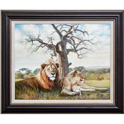 "Vera V. Goncharenko- Original Oil on Canvas ""Pride"""