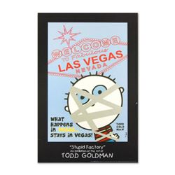 """What Happens in Vegas..."" Collectible Lithograph Hand Signed by Renowned Pop Artist Todd Goldman."